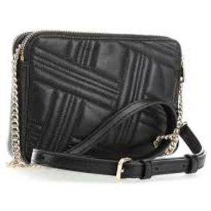 DKNY Allen Black lamb leather Shoulder Bag R83EB63